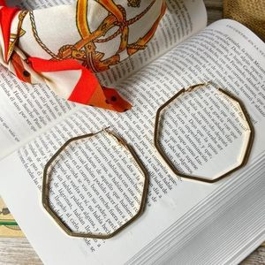 LARGE STATEMENT GOLD HOOPS